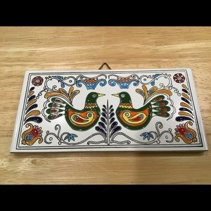🏺VINTAGE HANDPAINTED TILE from ATHENS, GREECE
